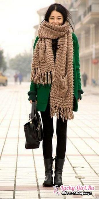 Как повязать шарф на пальто с воротником и без воротника: стильные и изысканные варианты