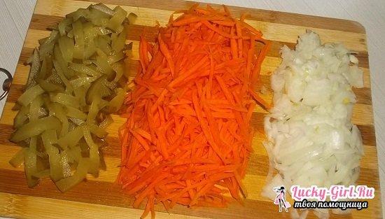 Салат Обжорка с курицей, грибами и корейской морковью: рецепты и кулинарные секреты