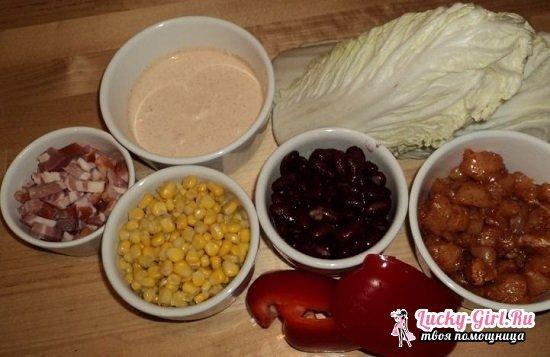 Салат с пекинской капустой и ветчиной: подборка лучших рецептов