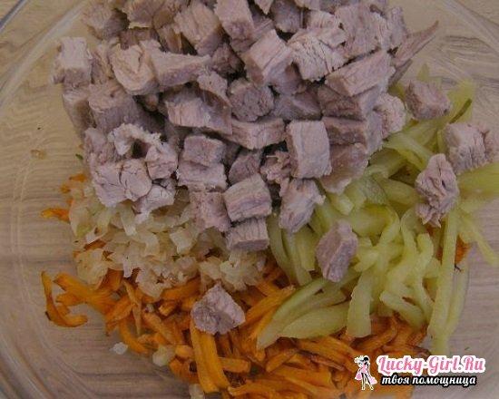 Салат с говядиной и маринованными огурцами: рецепты для настоящих гурманов