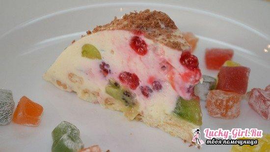 Творожный десерт с желатином и фруктами: рецепт с фото изысканного десерта