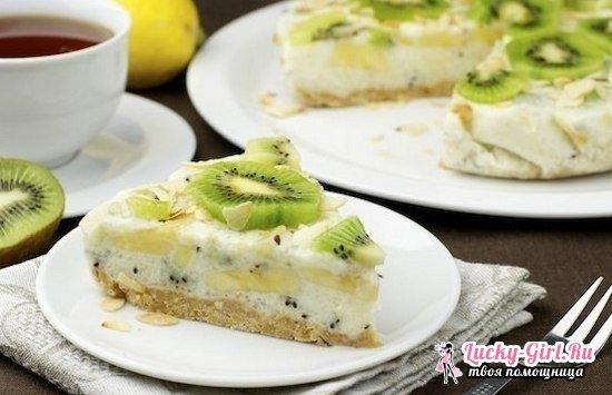 Вкусные и малокалорийные торты без выпечки с фруктами и желатином