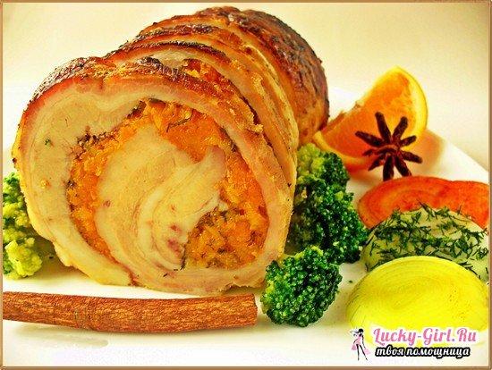 Рулет из свиной брюшины: рецепты приготовления и подсказки начинающим кулинарам