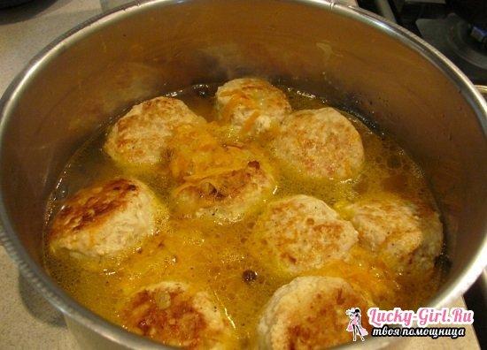 Фрикадельки из фарша: рецепты приготовления вкусного мясного блюда с рисом и подливкой