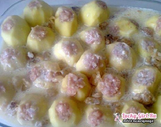 Картошка, запеченная с фаршем в духовке: подборка лучших рецептов с фото
